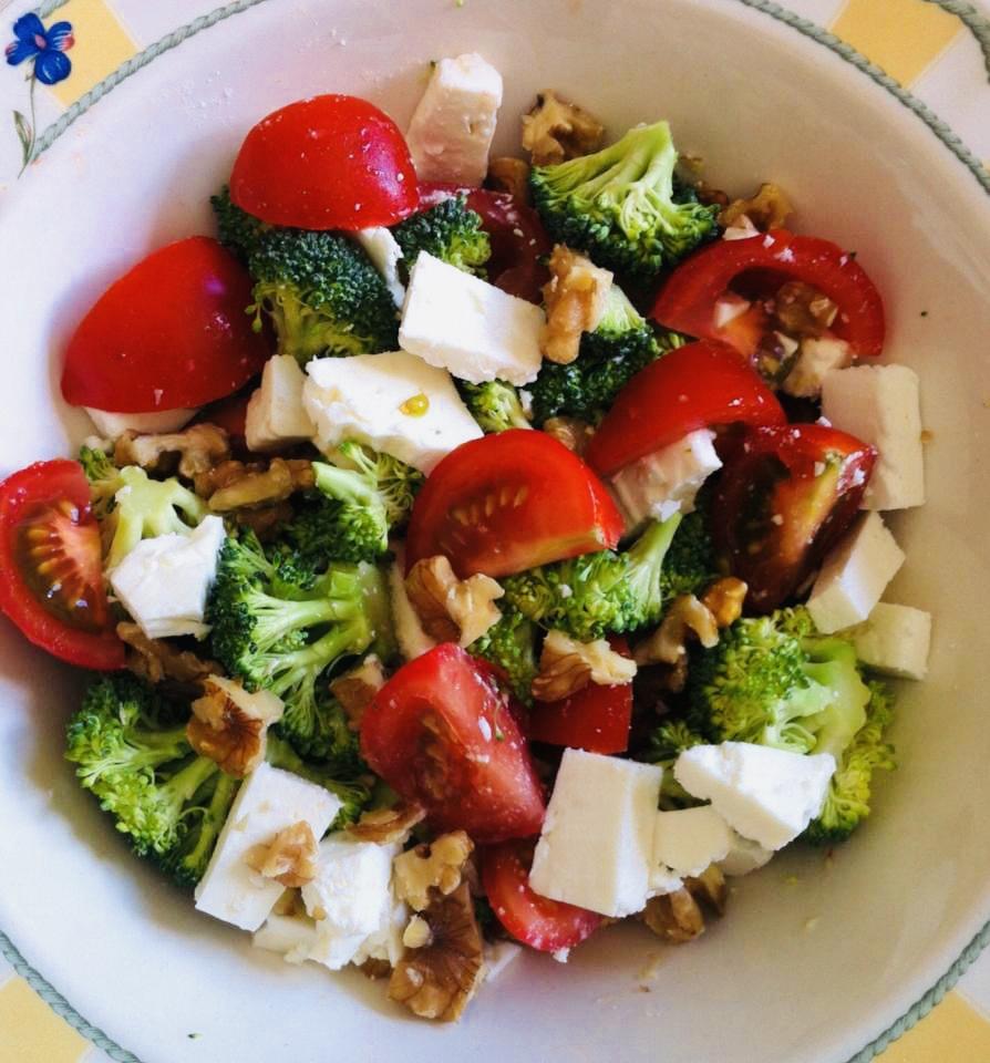 Broccoli,feta,hazelnut & cherry tomato salad