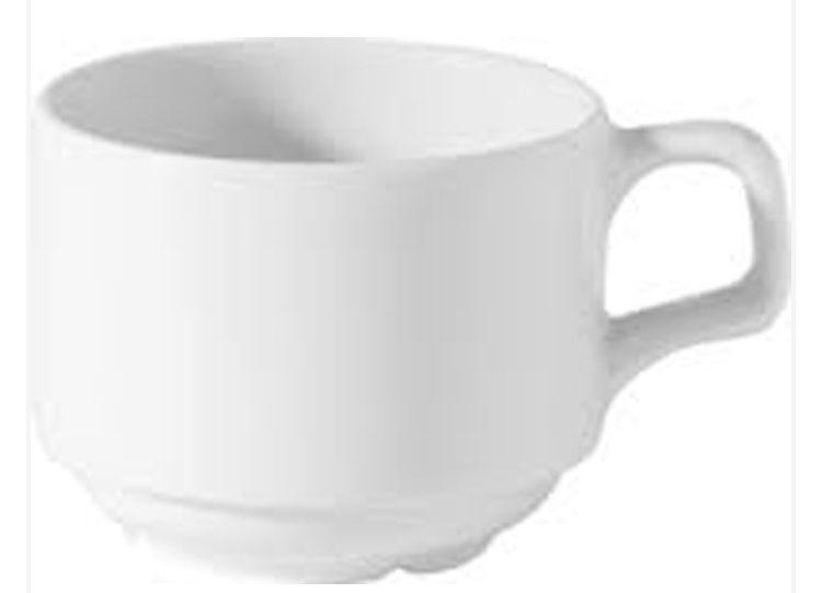 White Stacking Cup