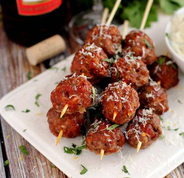 Spicy Meatball Skewers