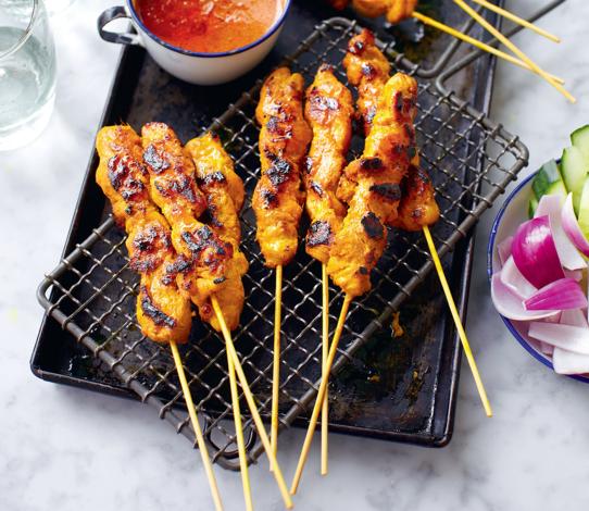 Marinated Chicken on stick