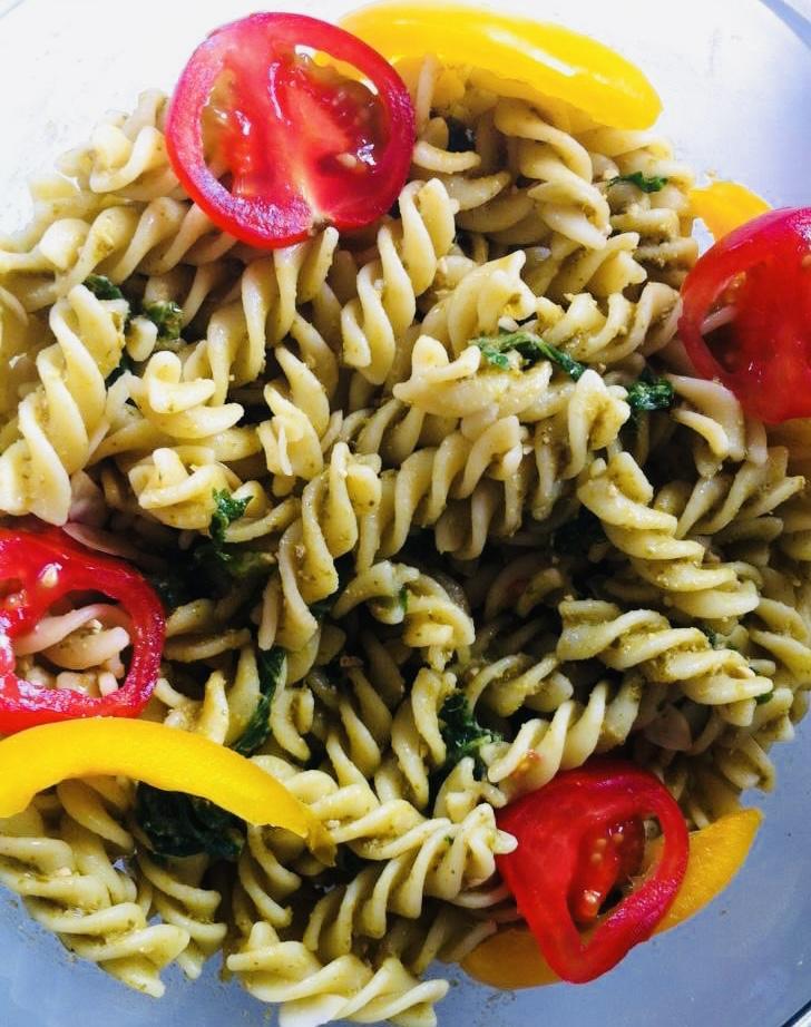 Olive, Pesto & Pasta Salad